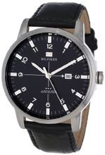Tommy Hilfiger 1710330 Stainless Steel and Black Leather