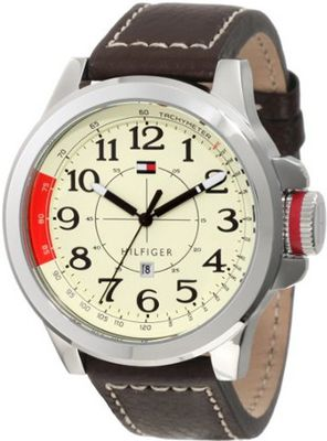 Tommy Hilfiger 1790844 Sport Stainless Steel and Khaki Brown leahter