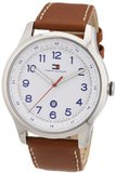 Tommy Hilfiger Andre 1710311 Brown Calf Skin Quartz with White Dial