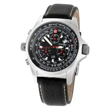 Torgoen Swiss T01102 Chronograph Pilot Computer Leather Strap