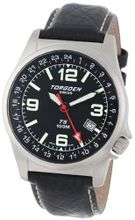 Torgoen Swiss T05101 Dual Time Zone Leather Strap