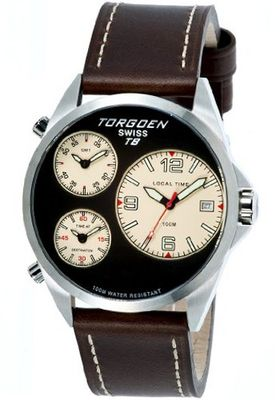 Torgoen Swiss T08103 T8 3 Time Zone Aviation