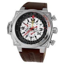 Torgoen Swiss T12101 T12 E6B Aviation Stainless Steel Brown Leather