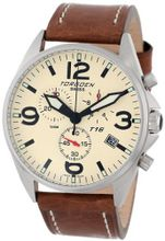 "Torgoen Swiss T16103 ""Aviation"" Beige Dial and Leather Strap"
