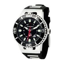 Torgoen Analog Quartz with Black Dial and Rubber Strap - T23301