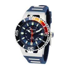 Torgoen Analog Quartz with Blue Dial and Rubber Strap - T23303