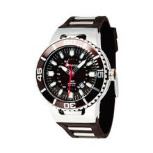 Torgoen Analog Quartz with Brown Dial and Rubber Strap - T23302