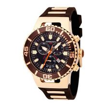Torgoen Analog Quartz with Brown Dial and Rubber Strap - T24302