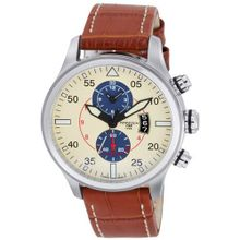 Torgoen Pilot T33 Series T33103 45mm Stainless Steel Case Brown Leather Mineral