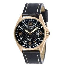 Torgoen - T25101 - Gents - Analogue Quartz - Grey Dial - Black / Beige Leather Strap