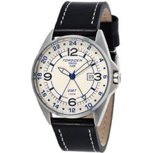 Torgoen - T25104 - Gents - Analogue Quartz - Beige Dial - Black / Beige Leather Strap