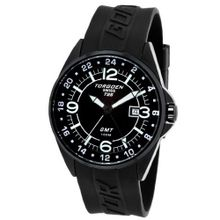 Torgoen - T25301 - Gents - Analogue Quartz - Black Dial - Black Rubber Strap
