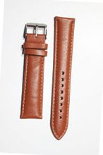 20mm Tan Oil-Tanned Calfskin Leather band with Heavy Buckle