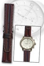 Brown Double-hump Oil-tanned Calfskin Leather Band 20mm