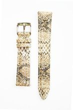 Michele Style Tan Baby Python Leather band with Quick Release Pins