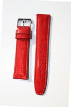 uToscana 14mm Deep Red Quick-release Patent Leather Lizard Grain band for Michele Style