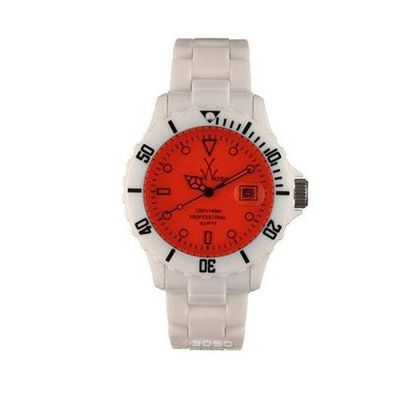 Toy Only Time Fluo All White Bracelet Red Glass FL01WHRD