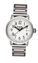 Stainless Steel Classic Basic Expansion Bracelet White Dial