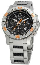 Stainless Steel Extreme Sport Black Dial Chronograph