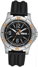Stainless Steel Extreme Sport Black Dial Silicone Strap