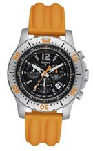 Stainless Steel Extreme Sport Chronograph Black Dial Silicone Strap