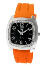 Trax TR1740-BO Malibu Fun Orange Rubber Black Dial Crystal