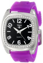 Trax TR1740-BPR Malibu Fun Purple Rubber Black Dial Crystal