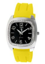 Trax TR1740-BY Malibu Fun Yellow Rubber Black Dial Crystal