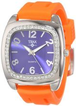 Trax TR1740-NO Malibu Fun Orange Rubber Blue Dial Crystal