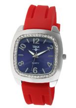 Trax TR1740-NR Malibu Fun Red Rubber Blue Dial Crystal