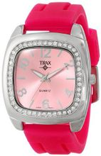 Trax TR1740-PP Malibu Fun Pink Rubber Pink Dial Crystal