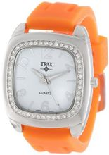 Trax TR1740-WO Malibu Fun Orange Rubber White Dial Crystal