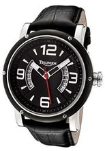 Black Dial Black Leather