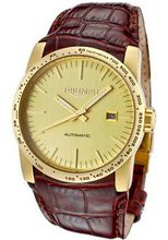 Bonneville Automatic Gold Dial Brown Leather
