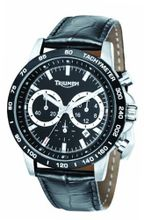Chronograph Black Dial Black Leather
