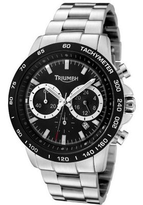 Chronograph Black Dial Stainless Steel