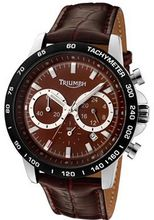 Chronograph Brown Dial Brown Leather