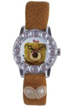 Trudi Kid's Bear with Embellished Strap, Brown