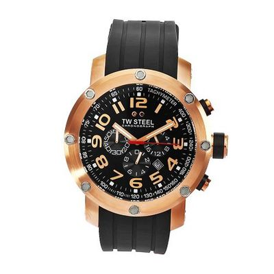 TW Steel TW131 Grandeur Tech Black Rubber Chronograph Dial