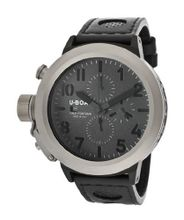Flightdeck Auto/Mech Chrono Charcoal Textured Dial Black Genuine Leather
