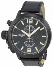 LIMITED EDITION! U-boat Left Hook IFO Chronograph Black PVD Steel Black Dial 7250