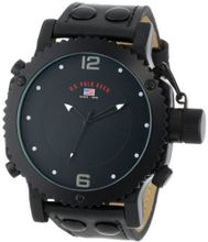 U.S. Polo Assn. Classic US4024 Black Analog Leather Strap