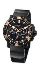 "New Limited Edition Ulysse Nardin Maxi Marine Diver Black Sea Chronograph Randy "" BIG UNIT "" Johnson 353-95LE-3C"