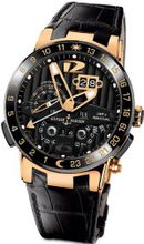 New Ulysse Nardin El Toro 18k Rose Gold Limited Edition Perpetual Calendar Automatic COSC Black 326-03