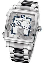 Quadrato Dual Time Automatic Stainless Steel