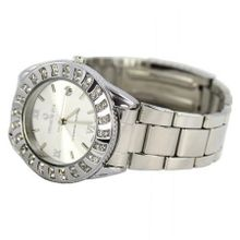 Charlie Jill Elegant  in Silver Dial Enchanted with Stunning Crystal Stainless Steel Bracelet, Perfect Gift Idea