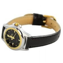 Charlie Jill  in Black Dial Black Leather Strap, Perfect Gift Idea