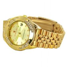 Charlie Jill  in Gold Dial 14K Gold Overlay with Swavorski Crystal Stone , Perfect Gift Idea