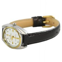Charlie Jill  in White Dial Black Leather Strap, Perfect Gift Idea