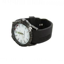 Plerre Jill 'Hevea'  in White Dial, Black Silicone Strap for Everyday Apparel